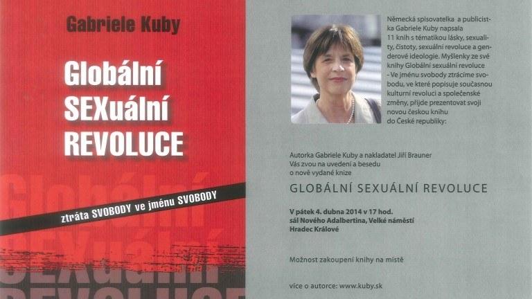 Přednáška Gabriele Kuby v Praze, autorky knihy Globální sexuální revoluce